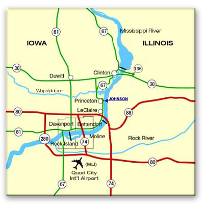 Johnson Mfg Co Map To Johnson